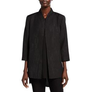 Eileen Fisher Black Jacquard Swirl Jacket NWT 1X